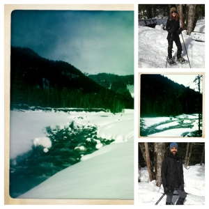 picstitch - snowshoeing