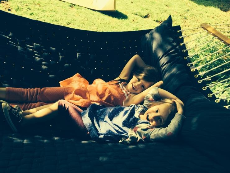girls in hammock